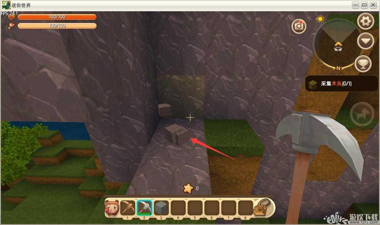 迷你世界:怎么制作石制工具 ?石制工具挖矿机巧?