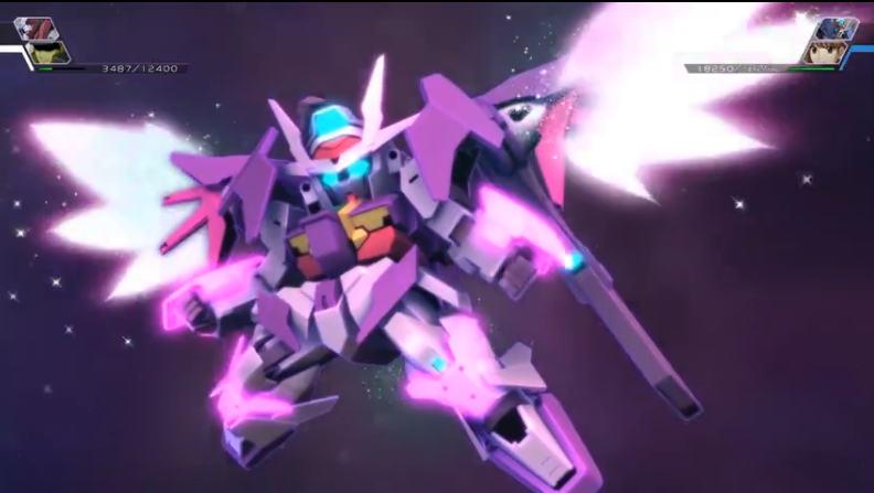 SD高达G世纪火线纵横天翔型00高达战斗动画 超能系大招登场