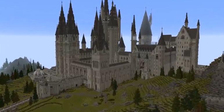 我的世界大神玩家神还原哈利波特魔法学校 神打造RPG游戏
